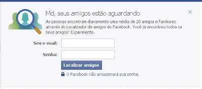 Carregar contatos do Facebook