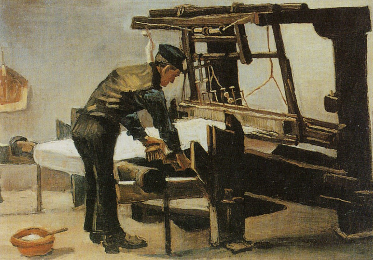 Weaver Standing in Front of a Loom by Vincent van Gogh