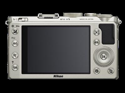 Fotografia del retro della Nikon Coolpix A