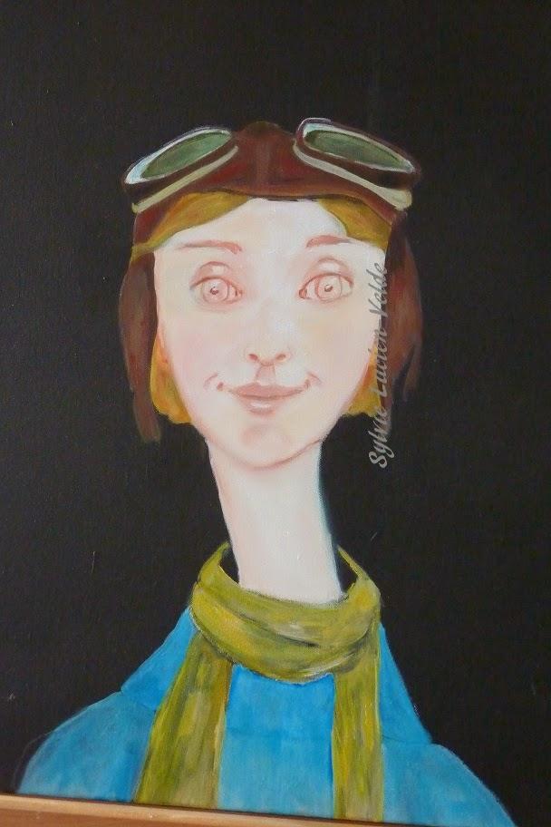 aviatrice peinture Sylvie Lucien-Velde
