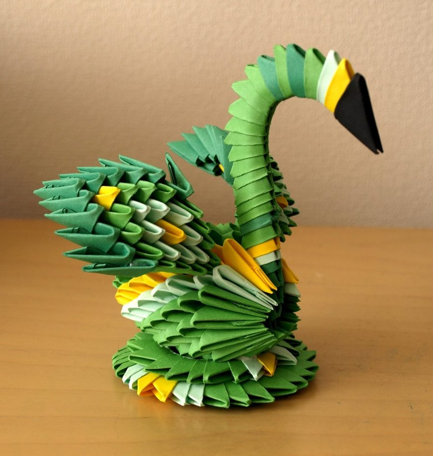 3d origami instructions for beginners small green swan 3d origami
