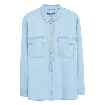 Topshop Boutique Bleached Denim Shirt