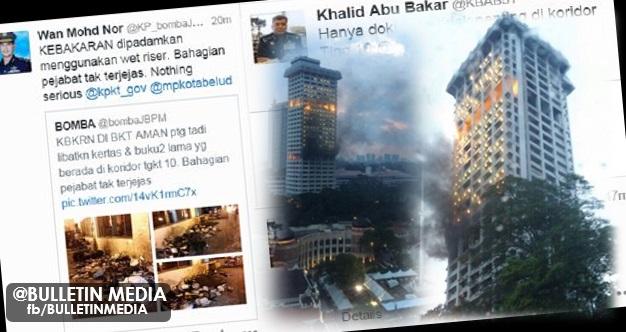 Kebakaran Menara Bukit Aman: Hanya dokumen tidak penting yang terbakar – KPN