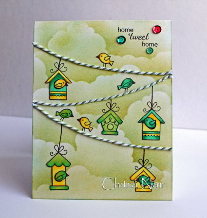 Tweet Talk Bird Card by Chitra for Newton's Nook Designs inky Paws Challenge