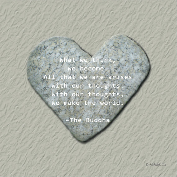 serce kamień z cytatem diy eco manufaktura