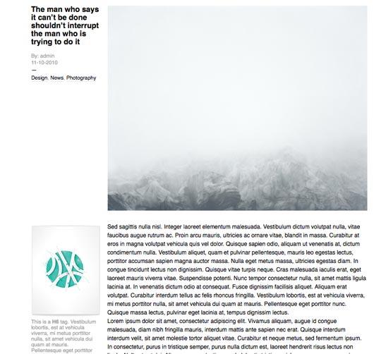 Lorem Ipsum By A Web Design Layout