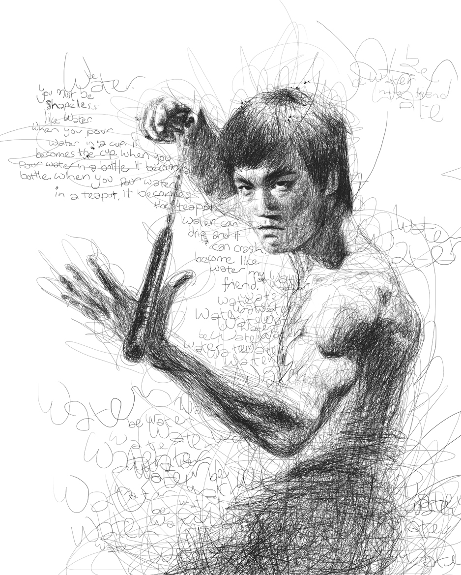 16-Bruce-Lee-Vince-Low-Scribble-Drawing-Portraits-Super-Heroes-and-More-www-designstack-co
