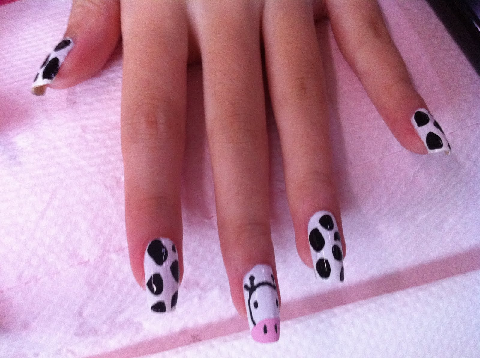 White Base Nail Designs Some new hello kitty design by