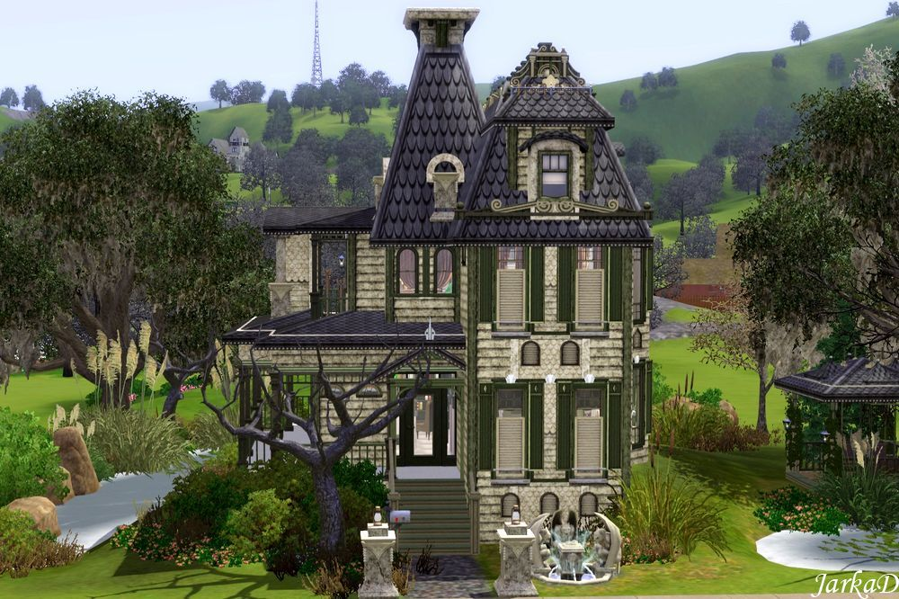 My sims 3 blog old victorian house by jarkad for Classic house sims 3