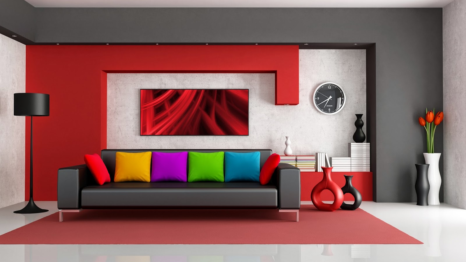 Shown Elegant Interior Design With Color Choices