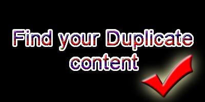 duplicate content tools
