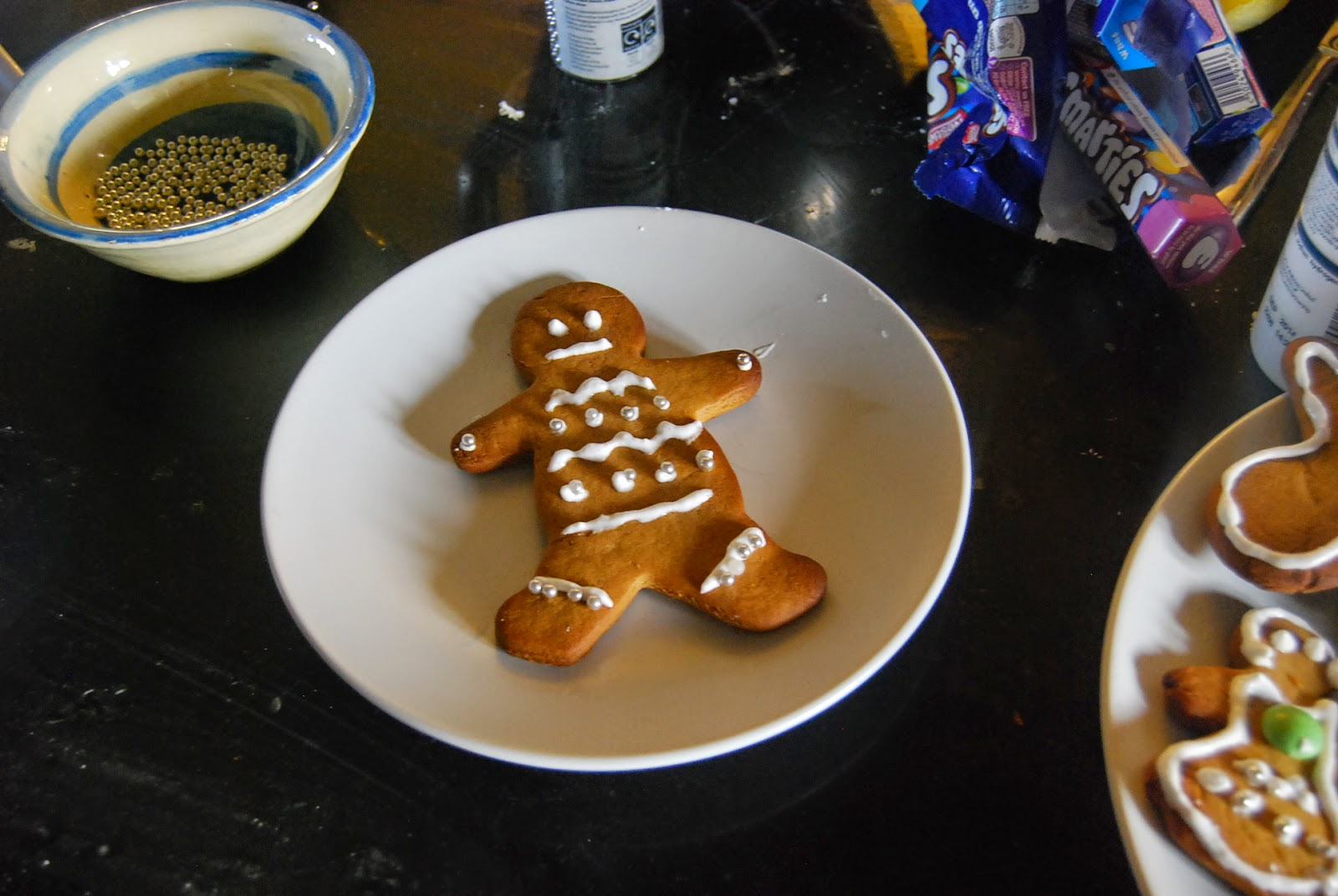 The Gingerbread station for decorating