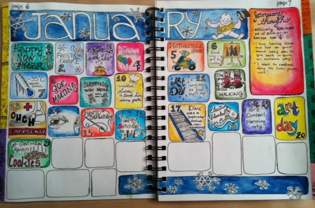 Art Journal Drawings in my 2014 Art Journal And