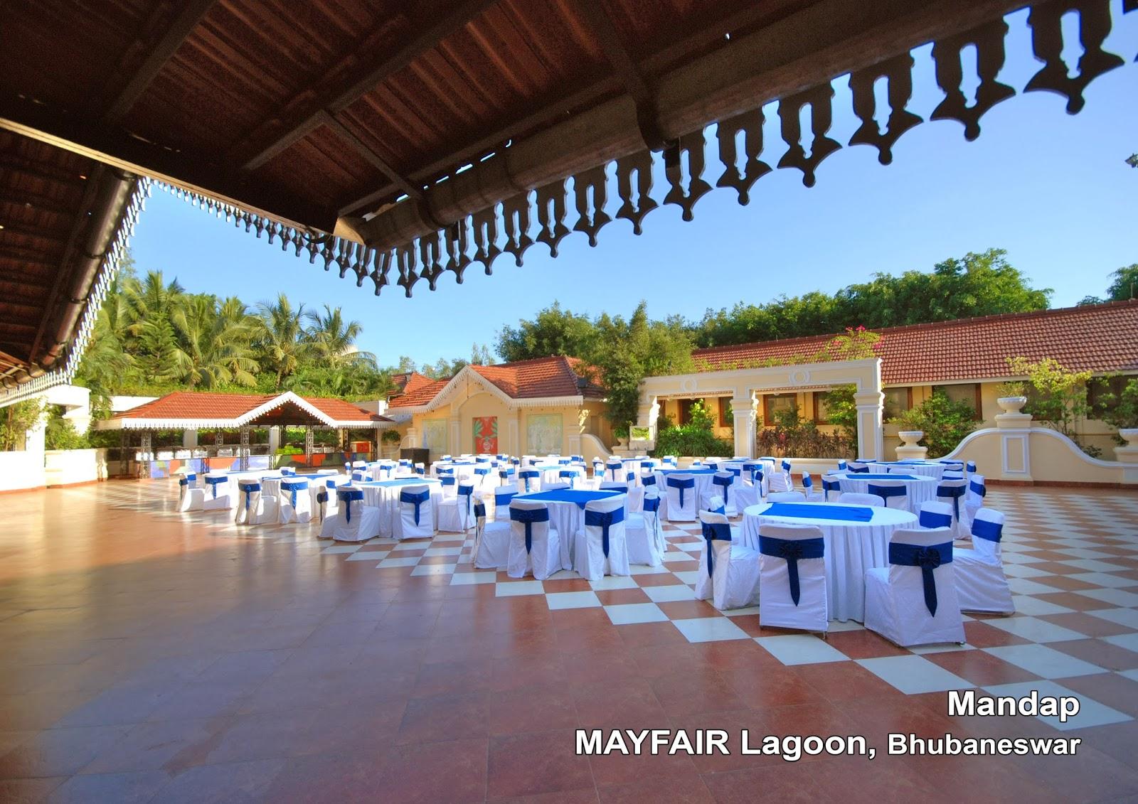 Beautiful Decorated Indoor And Outdoor Bhubaneswar Wedding Venues At Mayfair Lagoon