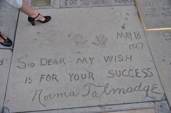 Norma Talmadge footprints Grauman's Chinese Theater by Lady by Choice