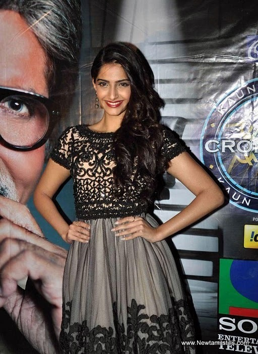 Sonam Kapoor - Sonam Kapoor on sets of KBC