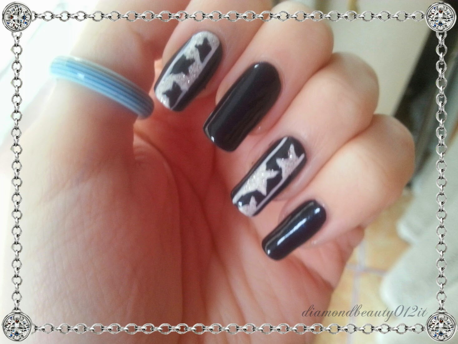 stelle cadenti di natale nail art