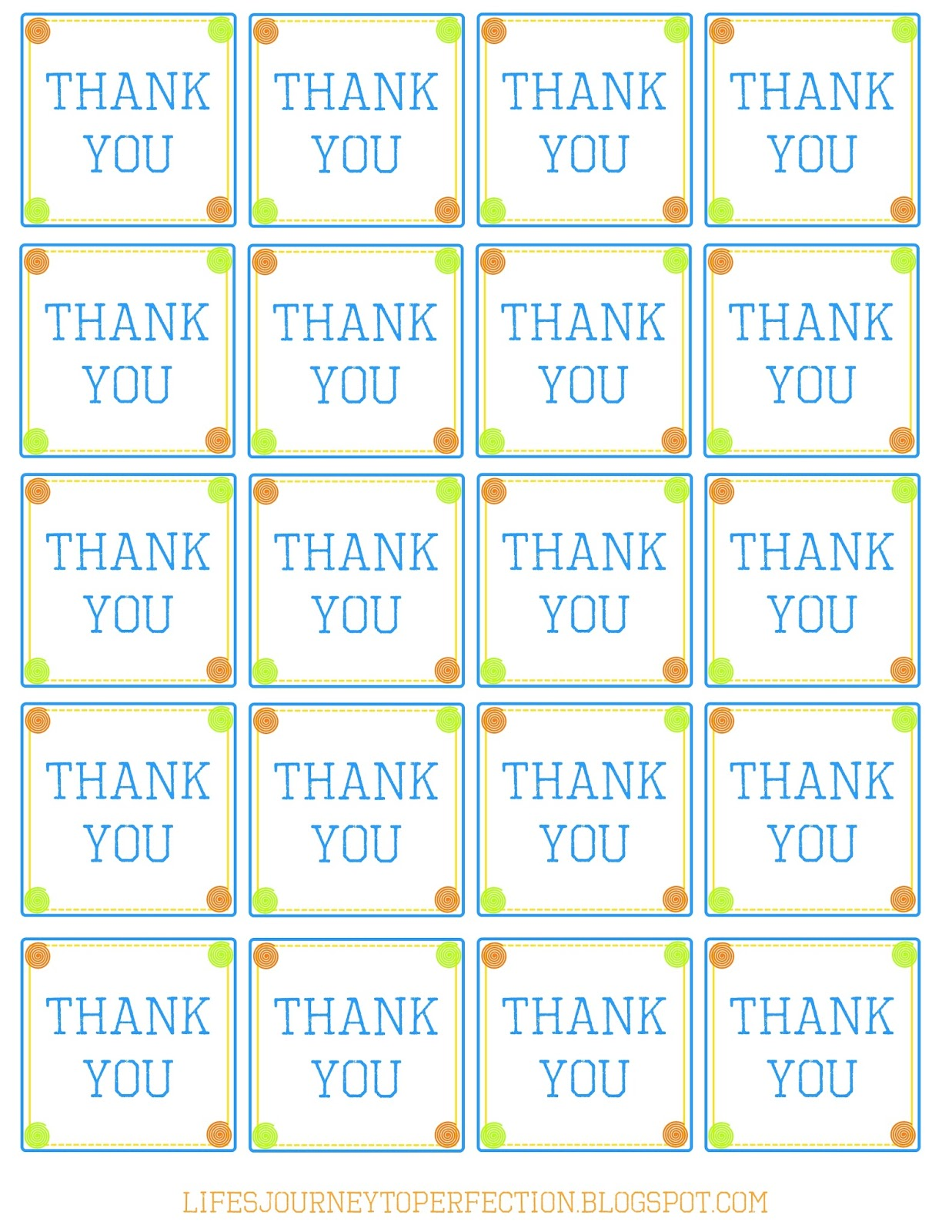 It's just a photo of Smart Thank You Tags Printable