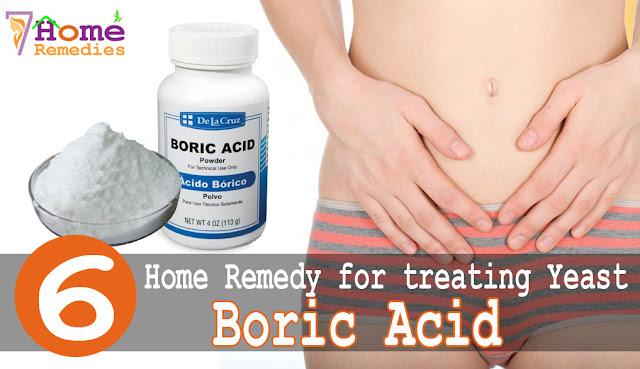 Apply boric acid