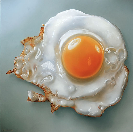 Drawing Lines With Oil Paint : Huevo frito en frio alcohol experimentos caseros