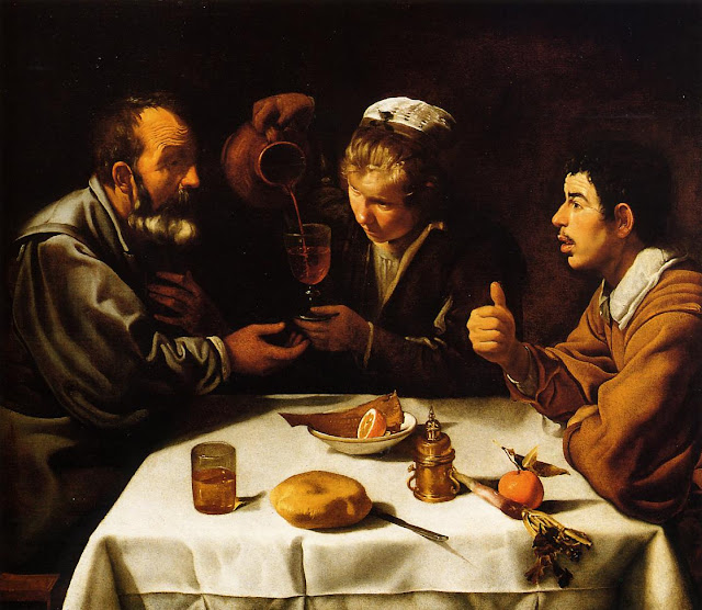 Diego Velazquez, The Lunch, art