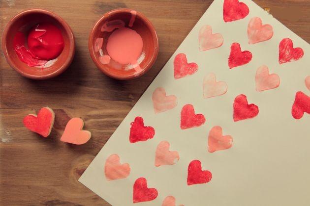 Manualidades de amor con hojas de colores - Imagui