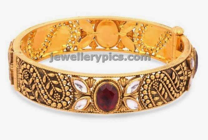 ethnix gold bangle designer bracelt latest jewellery designs