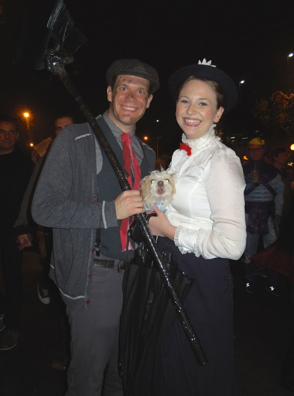 West Hollywood Halloween 2012 Mary Poppins costumes