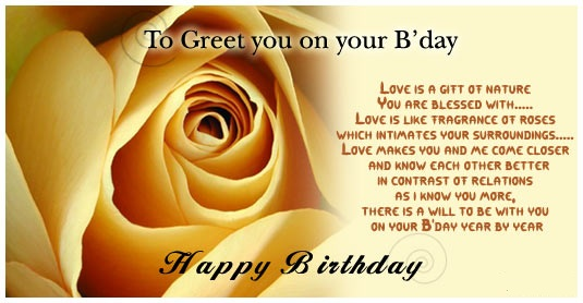 Khushi For Life Best Birthday Wishes With Yellow Rose For Good Friends