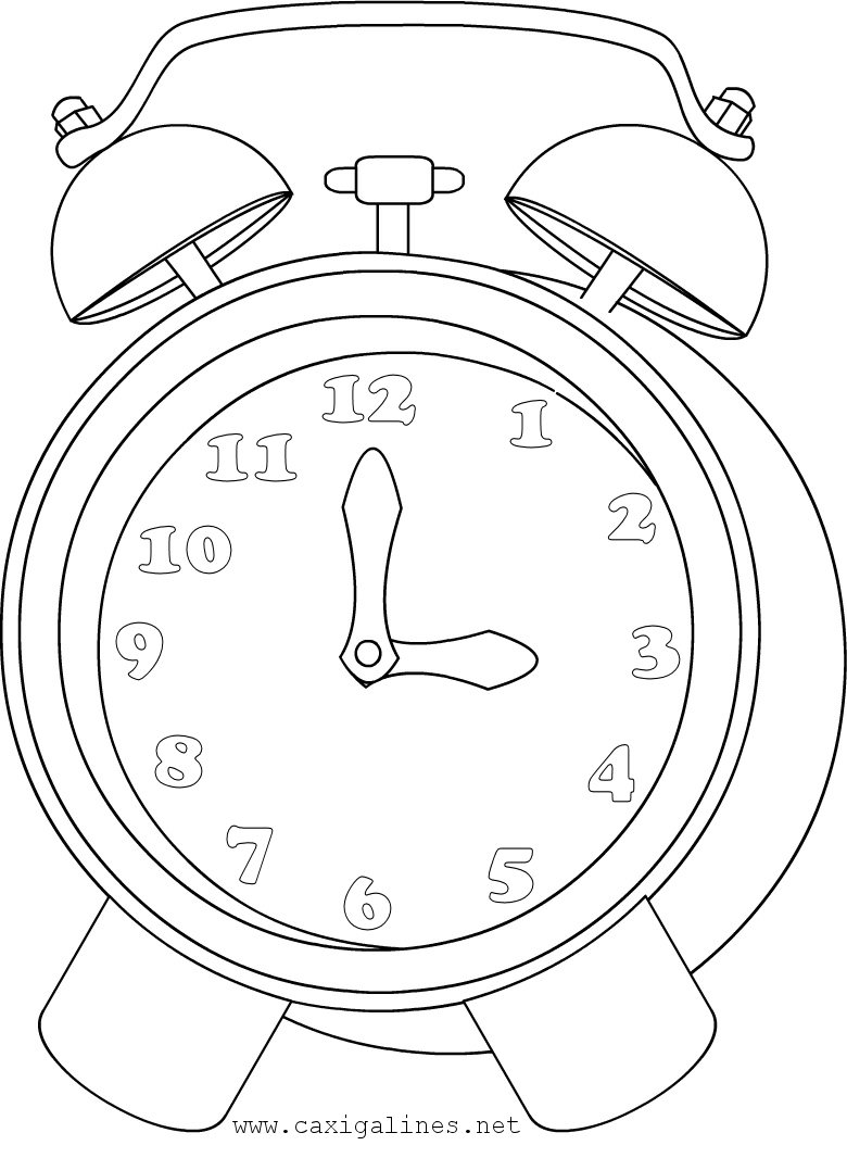 Coloring Pages For Kids Clock Coloring Pages For Kids