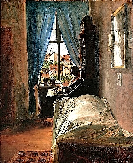A. Menzel. The Artist Bedroom in Ritterstrasse, 1847