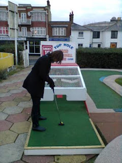 Photo of the Lucky Last Hole at the Arnold Palmer Minigolf course in Southend-on-Sea