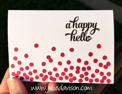 Stampin' Up! Dotty Angles Clean & Simple Note card #stampinup www.juliedavison.com