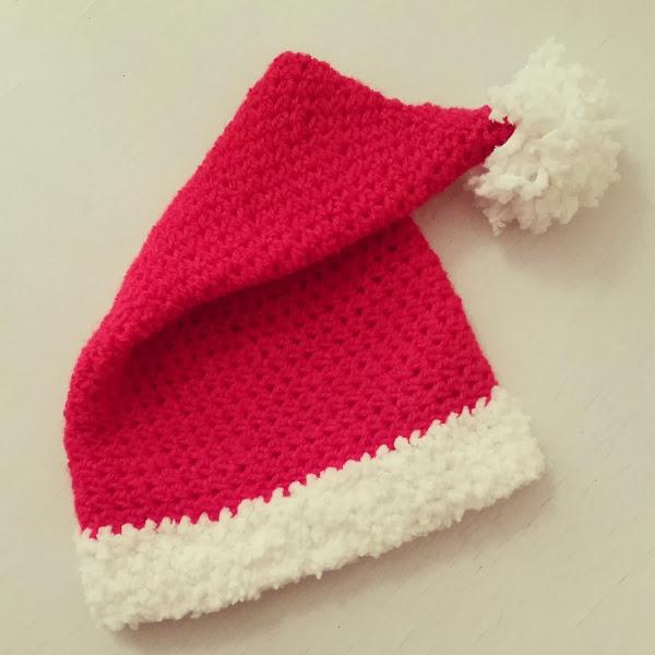 Gorro de Navidad a Crochet
