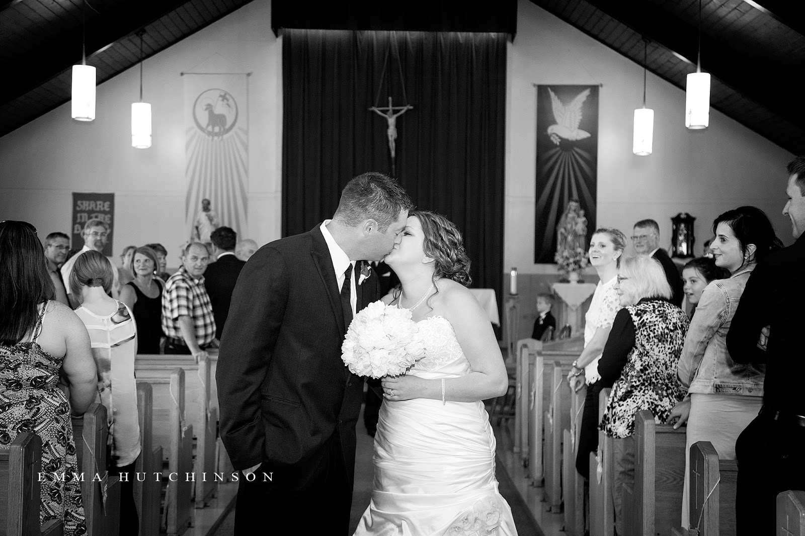 Weddings in Tilting, Fogo Island - first kiss