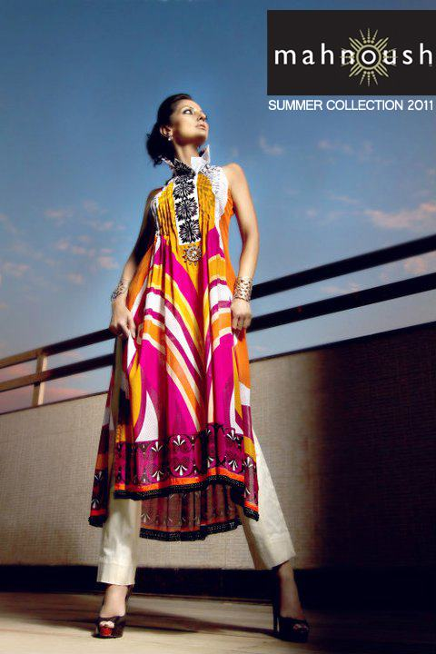 Latest Mahnoush Summer Collection 2012-13 | Lawn Salwar Kameez