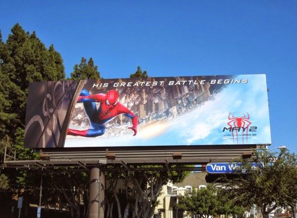 Amazing Spider-man 2 movie teaser billboard