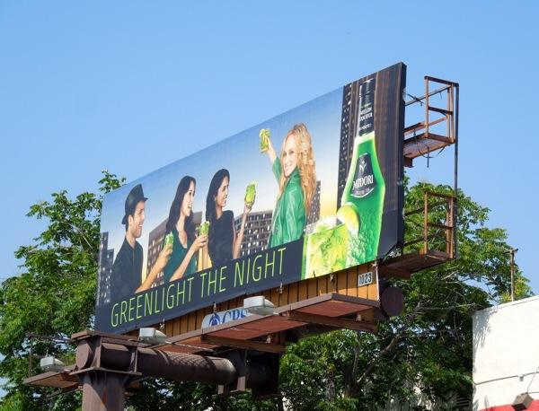 Greenlight night Midori billboard