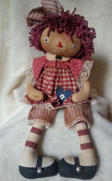 Handmade Raggedy Annie Doll #8