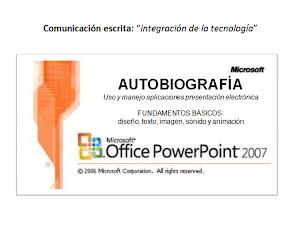 Diseñar presentación electrónica MS POWERPOINT
