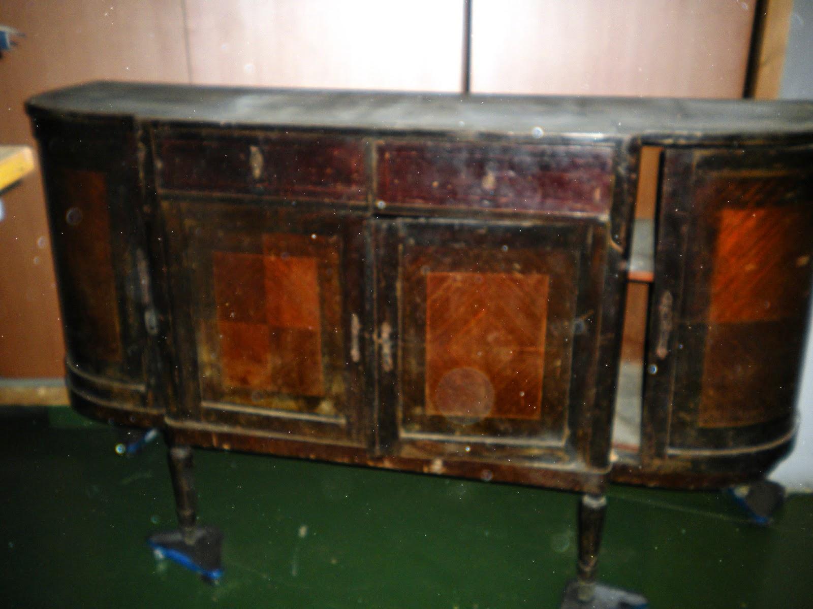 Aparador Preto Laca ~ Aparador buffet de medialuna antiguo restaurado Decoracion