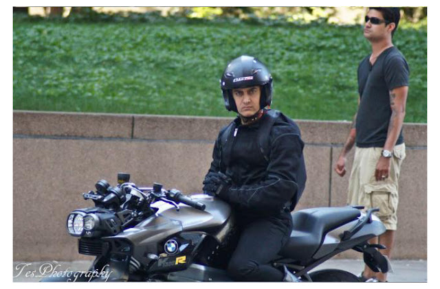 Exclusive First Look Aamir Khan Dhoom 3 Shooting Stills