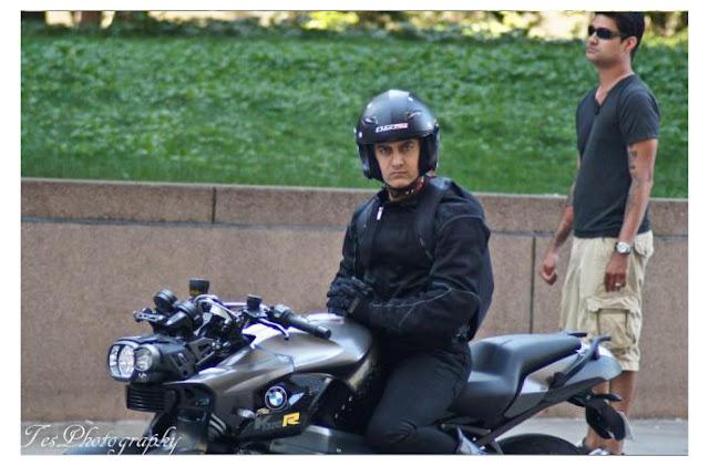 Exclusive First Look Aamir Khan Dhoom 3 Shooting Stills