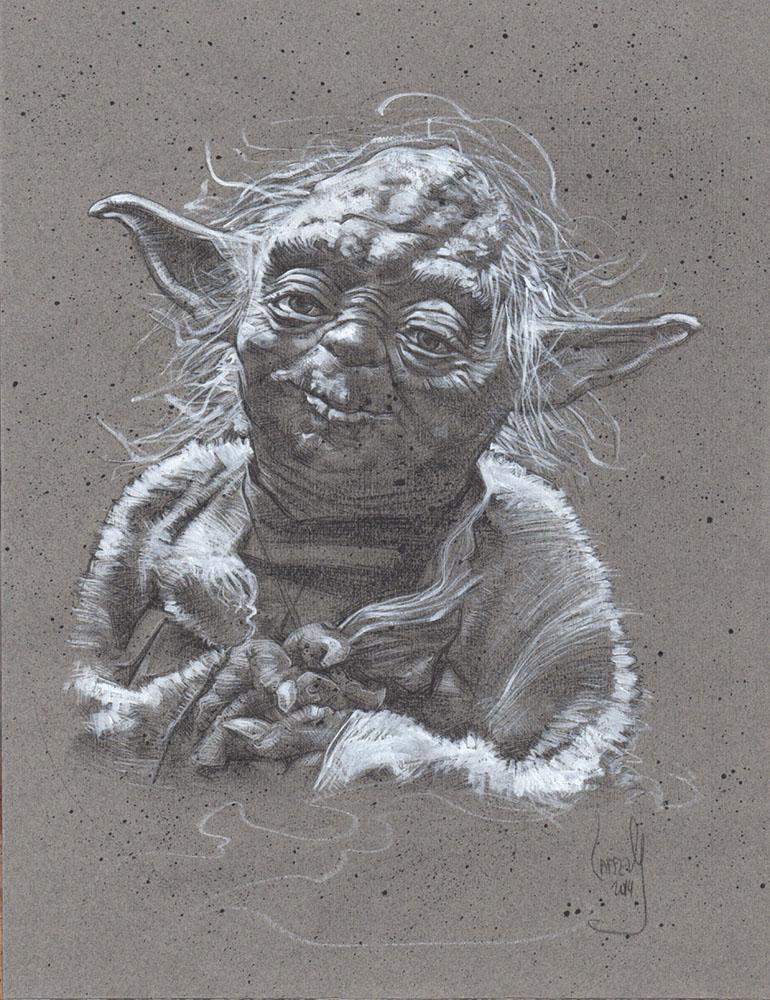 Yoda, Artwork is Copyright © 2014 Jeff Lafferty