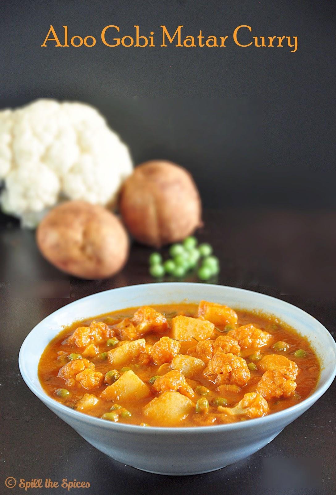 Aloo gobi matar potato cauliflower peas curry spill the spices aloo gobi matar potato cauliflower peas curry forumfinder Image collections