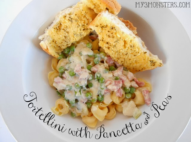 Tortellini with Pancetta & Peas at my3monsters.com