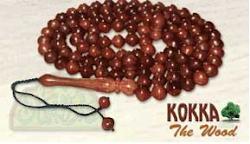 Kayu Kokka Dalam Bentuk Tasbih