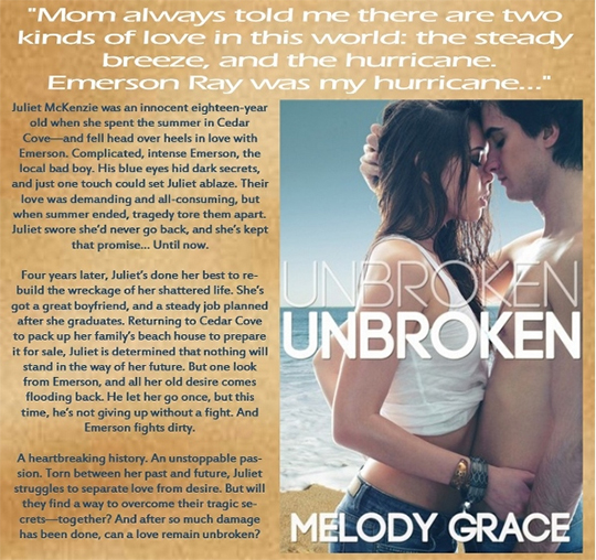 BOOK BLAST and GIVEAWAY: Unbroken by Melody Grace