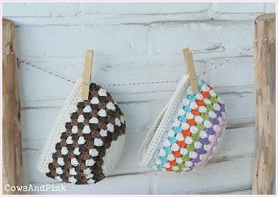 free crochet granny stripe hat