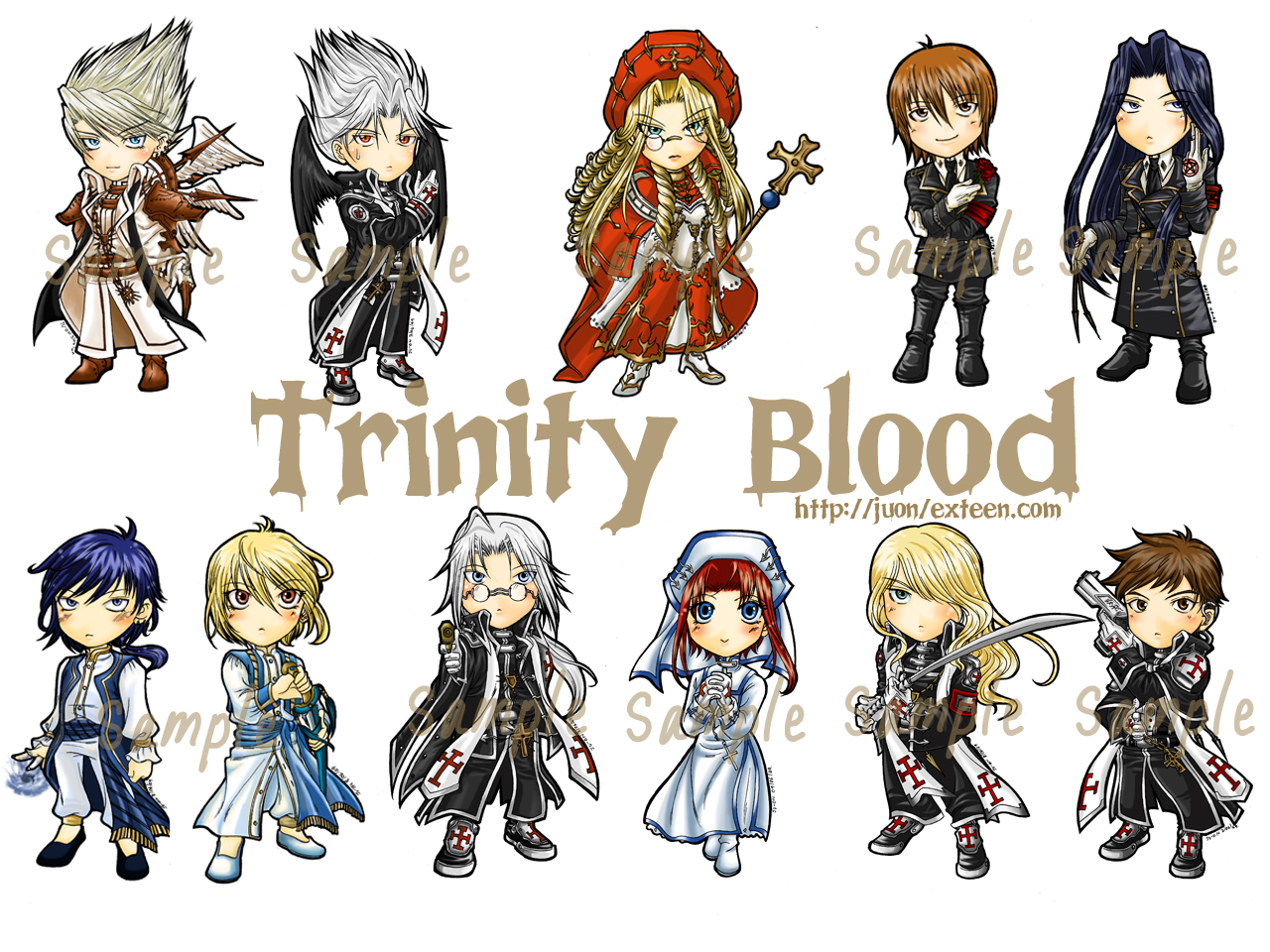 Trinity blood episodio 03 la estrella de los lamentos 1 ciudad de sangre - 1 8